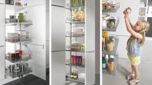 Für behindertengerechte Küchen ist der Apothekerschrank nicht immer die erste Wahl