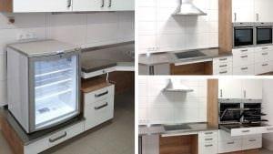 Kühlschrank mit Glastür – 2 Backöfen für zeitgleiches Backen und Braten
